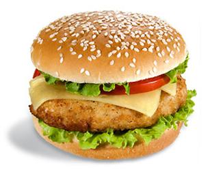 Гамбургер со шпинатом и сыром
